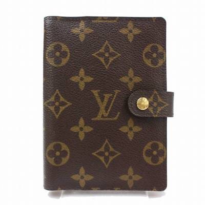 Authentic Louis Vuitton Diary Cover Agenda PM Browns Monogram 361138