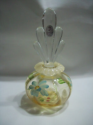 Perfume with stopper Autumn Gold Opal Fenton NIB hand painted