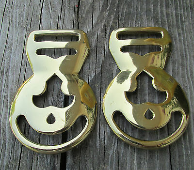 Mule Face Brass Bridle Harness Medallion  Lot of 2
