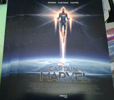 Lot of 4 CAPTAIN MARVEL AMC IMAX 8.5 X 11 Small Posters MARVEL Brie Larson