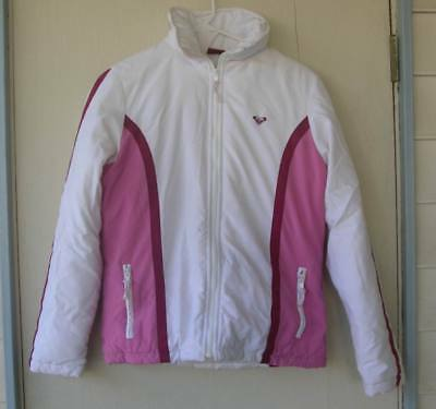 Roxy PINK zip-up cold weather winter coat jacket womens XS Extra Small