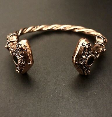 Vikings  Norse Design Women Bracelet Thor's Hammers Thunder Torque Adjustable