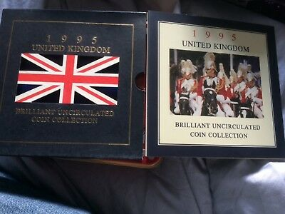 1995 UK Brilliant Uncirculated Coin Collection Royal Mint - WW2 £2 coin