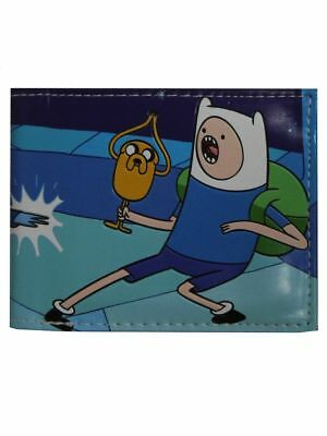 Adventure Time Finn And Jake Wallet Bi Fold Leather Wallet Purse Official