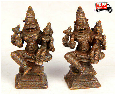 Old Vintage Antique Copper Brass Narsimha Statue 8022 Collectible Edh