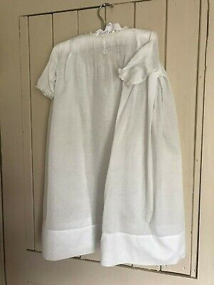 Vintage French cotton lawn Christening gown