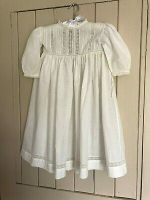 Vintage cotton lawn Christening gown / dolls dress