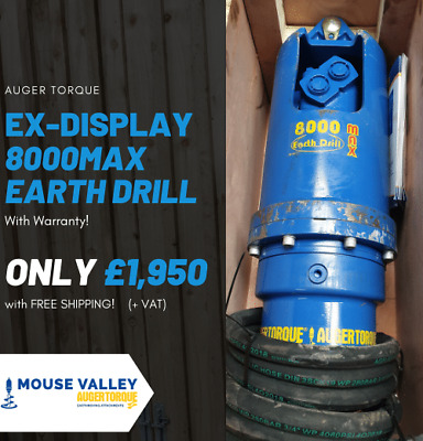 Ex-Display Auger Torque 8000MAX Earth Drill | Great saving on new price