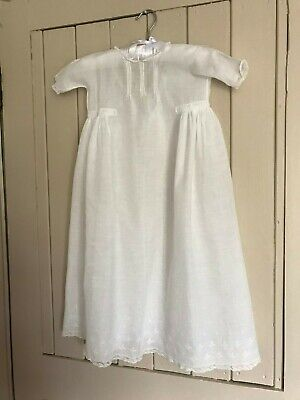 Vintage cotton lawn Christening gown