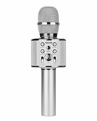 TechStone Microfono Karaoke Wireless Bluetooth 2 in 1 | Microfono Professionale
