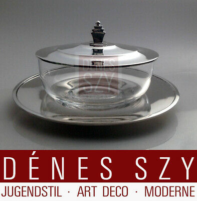 Georg Jensen Sterling Silver jam jar no. 583 A Pyramid by Harald Nielsen 1925-50