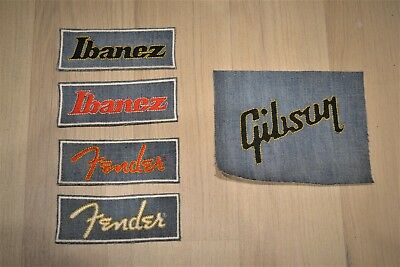 Ibanez / Fender / Gibson Embroidered Iron-On Rock Rare Patch Badge