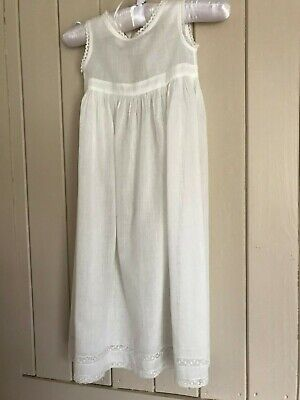 Vintage cotton lawn Christening gown / petticoat