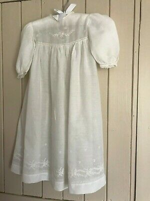 Vintage cotton lawn Christening gown /dolls dress
