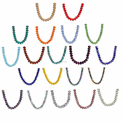 200pcs 3x2mm Charms Glass Crystal Faceted Rondelle Spacer Beads Loose Diy Bead