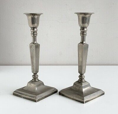 A Pair of Vintage Antique Edwardian Candlesticks - Made in England