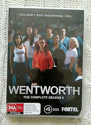 Wentworth –The Complete Season 3 - Dvd, 4-Disc Set    R-4, Like New, Free Post
