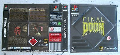Final Doom (1996) Playstation 1 Cover, No Disco