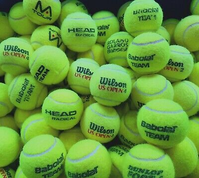30 Used Tennis Balls-EXCELLENT CONDITION-Tennis, Ball Games, Dog. Machine Washed