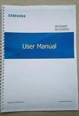 Printed Samsung Galaxy S7 Instruction Manual / User Guide SM-G930 174 pages A5