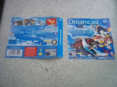 SKIES OF ARCADIA  PAL  Sega Dreamcast Replacement  Inlays.Reproduction