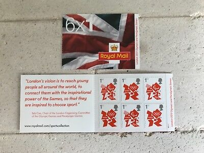 ROYAL MAIL STAMPS LONDON 2012 OLYMPIC GAMES  COMMEMORATIVE  6 x1st BOOKLET