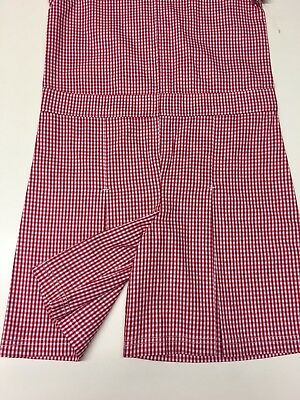 Girls Red Gingham Check Cotton School Dress Culottes  Easy Iron Age 7