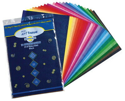Spectra Deluxe Bleeding Tissue Paper, 20 x 30 Inches, Assorted Colors, Pack of