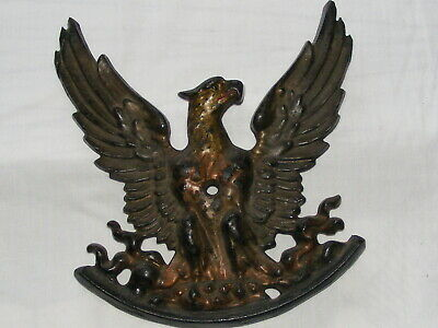 Phoenix - Eagle Rising From Fire Ashes Cast Iron Wall Plaque