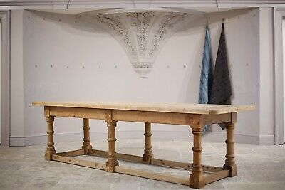 Huge 19th Century Scottish pine dining table