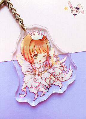 Card Captor Sakura White Dress Schlüsselanhänger Kawaii Manga Anime Cosplay