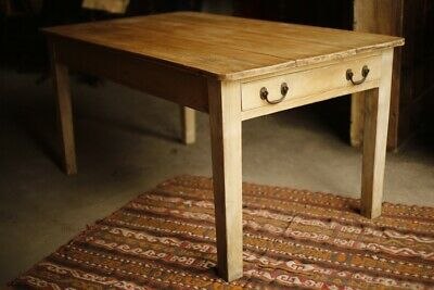 19th Century Ash and Pine dairy table with single drawer