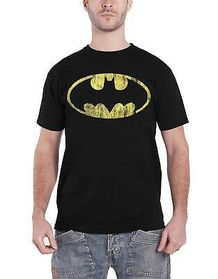 Official Batman T Shirt Classic Distressed Logo new DC Comics Mens Black Size S