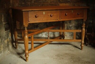 c.1800 Teak campaign table with two drawers