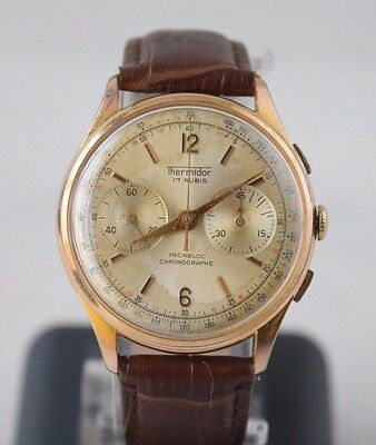 Collectible Military Chronograph Thermidor Wristwatch Pilots Aviation Watch 38mm