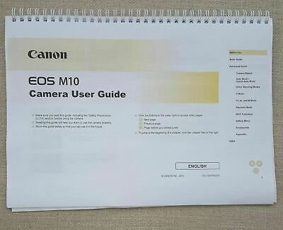 Canon EOS M10 FULL USER MANUAL GUIDE COLOUR PRINTED 196 PAGES A5