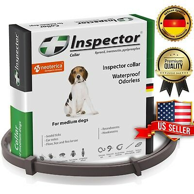Dog Flea & Worm Collar for Dogs & Puppies - Flea Control and Tick Treatment