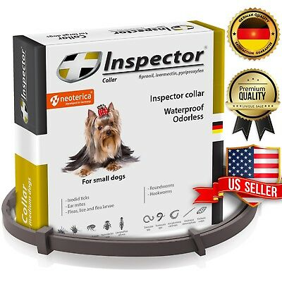 Dog Flea & Worm Collar for Small Dogs & Puppies Flea Control and Tick Treatment