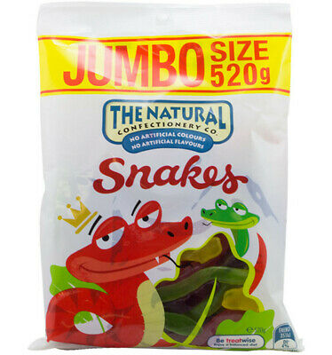 The Natural Confectionery Co. Snakes 520g x 10