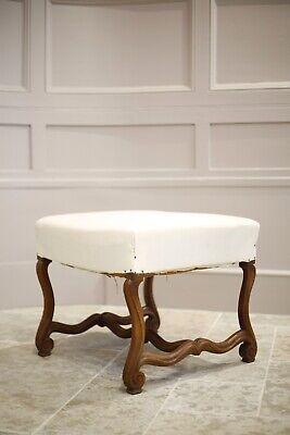 19th century French footstool (Os de mouton)