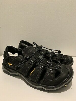 5c09b3713dba KEEN MENS RIALTO H2 Black Hiking Trail Walking Sandals Water Shoes ...
