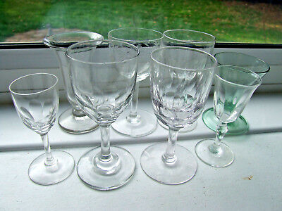 Collection of 8 Victorian & later Small Sherry Glasses