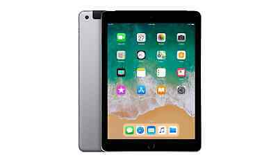 "Apple iPad 6th Gen 32GB, Wi-Fi,4G LTE Unlocked 9.7""  Touch ID RD  - Space Grey"