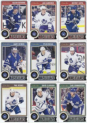 2014-15 O Pee Chee Toronto Maple Leafs Complete Base Team Set 16 Different Cards