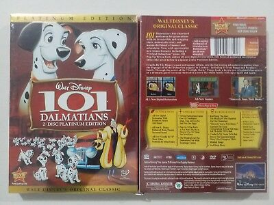 "101 Dalmatians (DVD, 2008, 2-Disc, Platinum Edition) ""Family Time"" Free Shipping"
