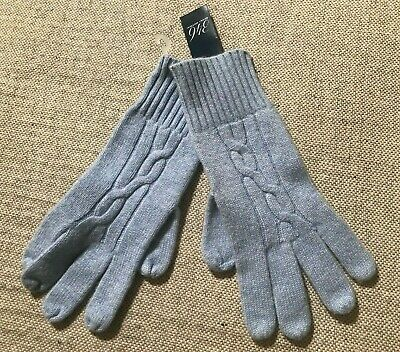 NEW Brooks Brothers 346 Women's Cashmere & Wool Cable Knit Gloves One Size #L8