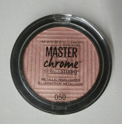MAYBELLINE MASTER CHROME METALLIC HIGHLIGHTER 050 MOLTEN ROSE GOLD unsealed