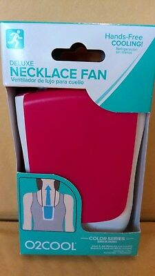 Blue /& White Personal Cooling Deluxe Necklace Fan by O 2 Cool//Color