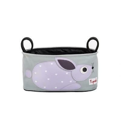 "New in Package 3 Sprouts Gray and Purple Stroller Organizer Rabbit 12.5"" Width"