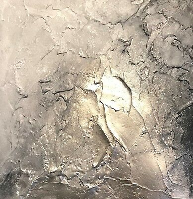 SALE! Textured Contemporary Original Art canvas painting in Greys/Silver & Gold